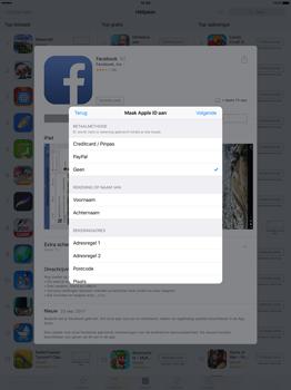 Apple iPad Pro 12.9 inch (Model A1671) - Applicaties - Account aanmaken - Stap 18