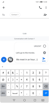 Huawei P20 Pro Android Pie - MMS - Sending a picture message - Step 9