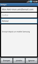 Samsung I9000 Galaxy S - E-mail - envoyer un e-mail - Étape 6
