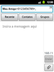 Samsung Galaxy Y - Mensagens - Como criar e enviar mensagens multimídia (MMS) - Etapa 9