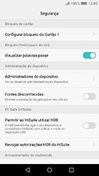 Huawei Y6 (2017) - Segurança - Como ativar o código PIN do cartão de telemóvel -  5