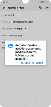 Huawei Mate 20 - E-mail - envoyer un e-mail - Étape 10