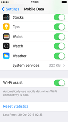 Apple iPhone 5s iOS 9 - Internet - Disable WiFi Assist - Step 5