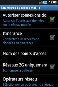 Samsung S5570 Galaxy Mini - Internet - configuration manuelle - Étape 7