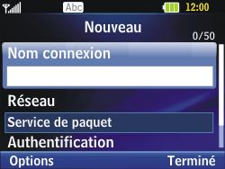LG C320 InTouch Lady - Internet - Configuration manuelle - Étape 7