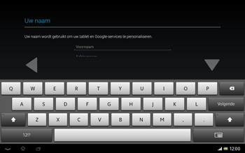 Sony SGP321 Xperia Tablet Z LTE - Applicaties - Account aanmaken - Stap 5