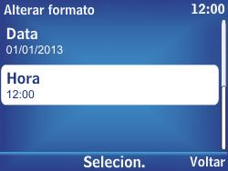Nokia Asha 302 - Funções básicas - Como configurar data e hora - Etapa 13