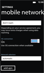 Nokia Lumia 710 - Network - Usage across the border - Step 5