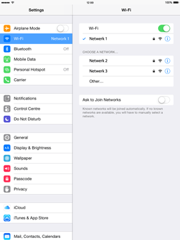 Apple iPad Air iOS 8 - WiFi and Bluetooth - Manual configuration - Step 7