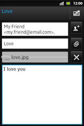 Sony ST27i Xperia Go - E-mail - Sending emails - Step 12