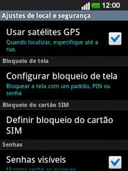 LG E400 - Segurança - Como ativar o código PIN do cartão de telemóvel -  5