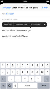 Apple iPhone 6 Plus - iOS 11 - E-mail - hoe te versturen - Stap 9