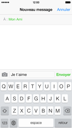 Apple iPhone 5c - Contact, Appels, SMS/MMS - Envoyer un SMS - Étape 7