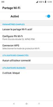 Alcatel 3L - Internet et connexion - Partager votre connexion en Wi-Fi - Étape 11