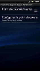 Sony Ericsson Xpéria Arc - Internet et connexion - Partager votre connexion en Wi-Fi - Étape 10