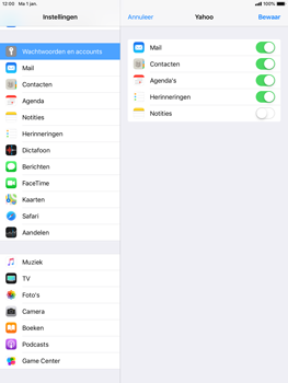 Apple iPad Air iOS 12 - E-mail - e-mail instellen (yahoo) - Stap 8