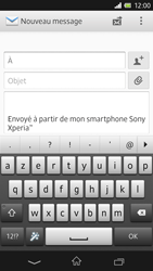 Sony C6603 Xperia Z - E-mail - envoyer un e-mail - Étape 4