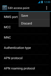 Acer Liquid Z3 - Mms - Manual configuration - Step 15