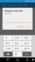Sony Xperia M4 Aqua - Segurança - Como ativar o código PIN do cartão de telemóvel -  7
