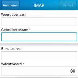BlackBerry Q5 - E-mail - Account instellen (IMAP zonder SMTP-verificatie) - Stap 9
