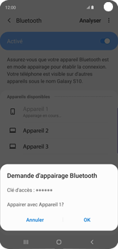 Samsung Galaxy S10 - Bluetooth - connexion Bluetooth - Étape 10