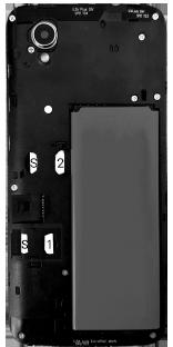 Alcatel 1 - Premiers pas - Insérer la carte SIM - Étape 7