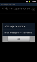 Samsung I8160 Galaxy Ace II - Messagerie vocale - configuration manuelle - Étape 9