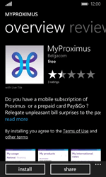 Nokia Lumia 635 - Applications - MyProximus - Step 8