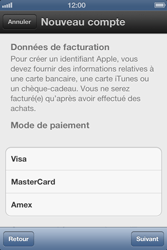 Apple iPhone 4 S - Applications - Créer un compte - Étape 13