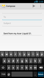Acer Liquid S1 - Email - Sending an email message - Step 5