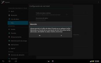 Sony Xperia Tablet Z - Internet - Configurar Internet - Paso 7