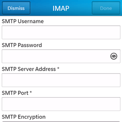 BlackBerry Q5 - Email - Manual configuration - Step 12