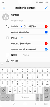 Huawei P20 lite - Contact, Appels, SMS/MMS - Ajouter un contact - Étape 9
