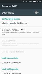 Lenovo Vibe C2 - Wi-Fi - Como usar seu aparelho como um roteador de rede wi-fi - Etapa 7