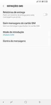 Samsung Galaxy S9 Plus - SMS - Como configurar o centro de mensagens -  8