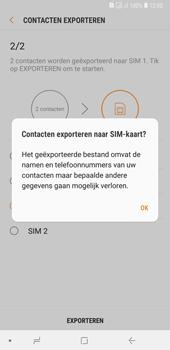 Samsung galaxy-a7-dual-sim-sm-a750fn - Contacten en data - Contacten kopiëren van toestel naar SIM - Stap 13