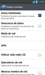 LG Optimus L5 II - Red - Seleccionar una red - Paso 6