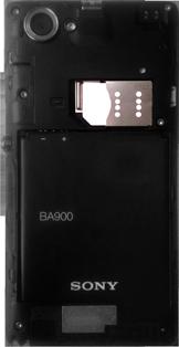 Sony Xperia L - Primeros pasos - Quitar y colocar la batería - Paso 7