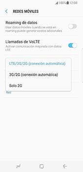 Samsung Galaxy S8 - Red - Seleccionar el tipo de red - Paso 7