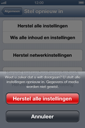 Apple iPhone 4 (iOS 6) - toestel resetten - fabrieksinstellingen terugzetten - stap 7