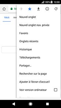 Sony Xperia XA2 Ultra - Internet et connexion - Naviguer sur internet - Étape 13