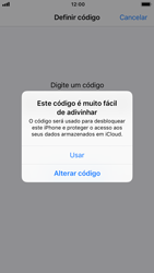 Apple iPhone 6s - iOS 12 - Segurança - Como ativar o código de bloqueio do ecrã -  6