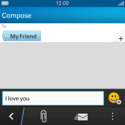 BlackBerry Q5 - Mms - Sending a picture message - Step 8