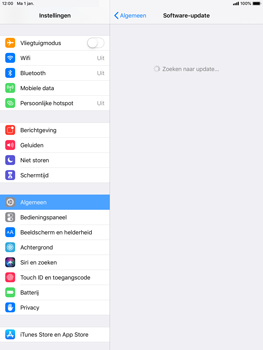 Apple ipad-mini-4-met-ios-12-model-a1550 - Software updaten - Update installeren - Stap 5