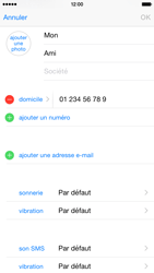 Apple iPhone 6 iOS 8 - Contact, Appels, SMS/MMS - Ajouter un contact - Étape 12