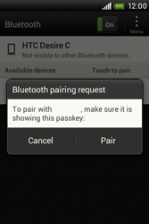 HTC A320e Desire C - Bluetooth - Pair with another device - Step 8