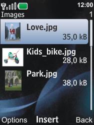Nokia 6600i slide - MMS - Sending pictures - Step 13