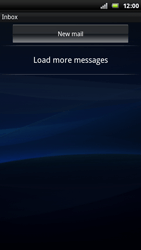 Sony Ericsson Xperia Play - Email - Sending an email message - Step 4