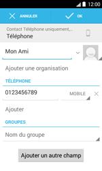 Bouygues Telecom Bs 403 - Contact, Appels, SMS/MMS - Ajouter un contact - Étape 9