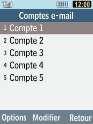 Samsung C3590 - E-mails - Ajouter ou modifier un compte e-mail - Étape 7